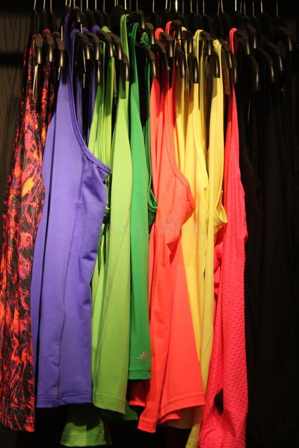 Gekleurde vesten voor vrouwen stock foto