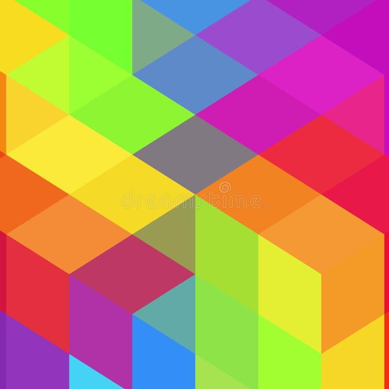 Gekleurde vierkanten lay-out voor de presentatie Moza?ekstijl Eps 10 royalty-vrije illustratie