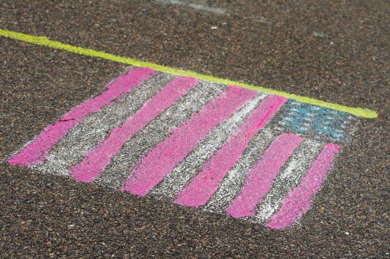 Gekleurde vlag royalty-vrije stock foto's