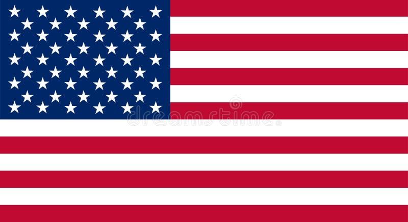 Gekleurde vlag van de V.S. royalty-vrije illustratie