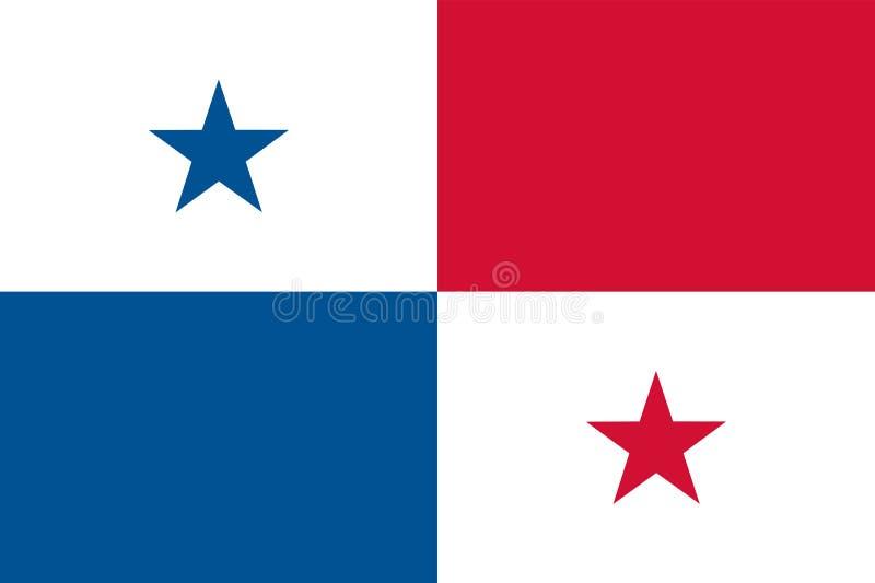 Gekleurde vlag van Panama vector illustratie