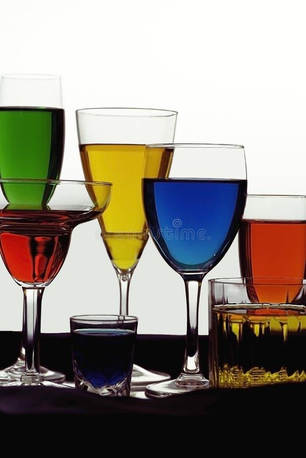 Gekleurde Vloeistoffen royalty-vrije stock foto's