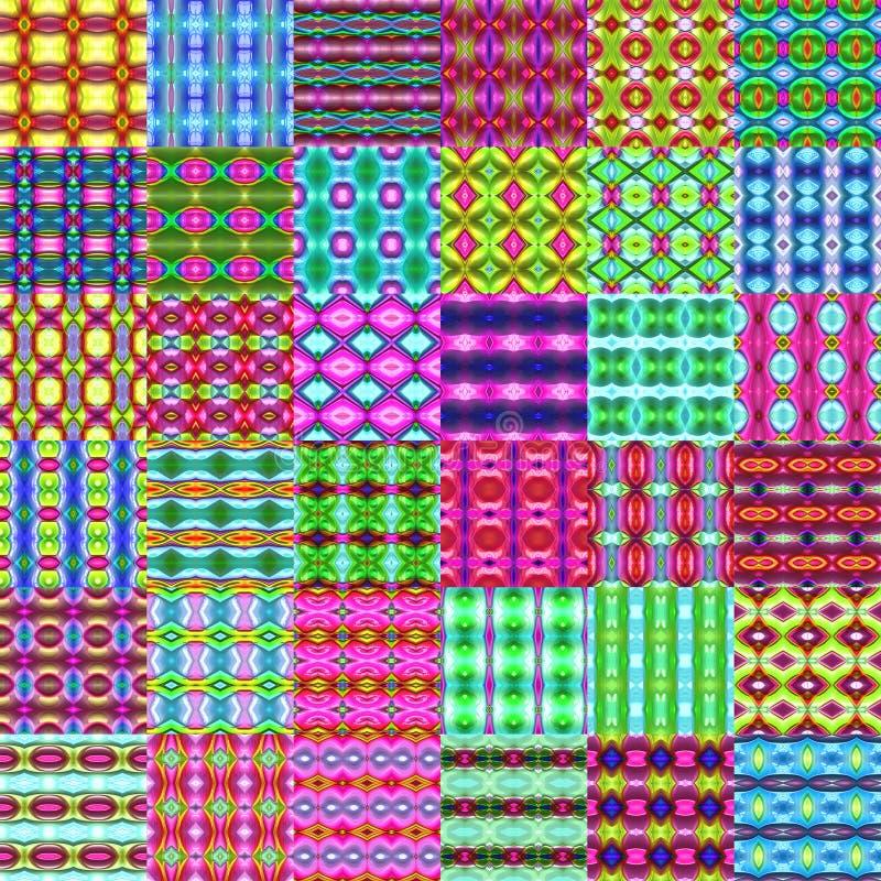 Gekleurde voddenachtergrond vector illustratie