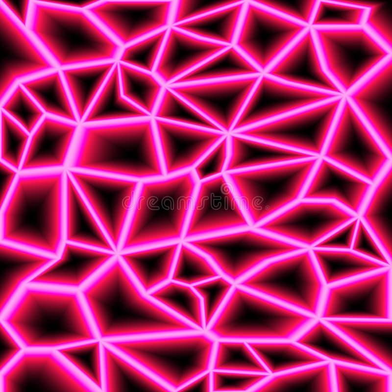 Gekleurde willekeurige laserstralen op donkere achtergrond Plaats voor uw tekst Vector illustratie stock illustratie