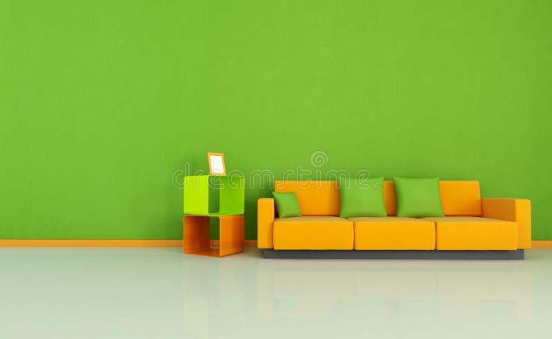 Gekleurde woonkamer stock illustratie. Illustratie bestaande uit ...