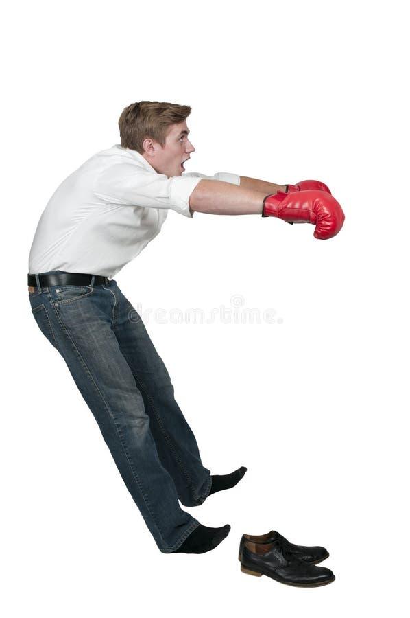 Geklopfter heraus Boxer stockfotografie