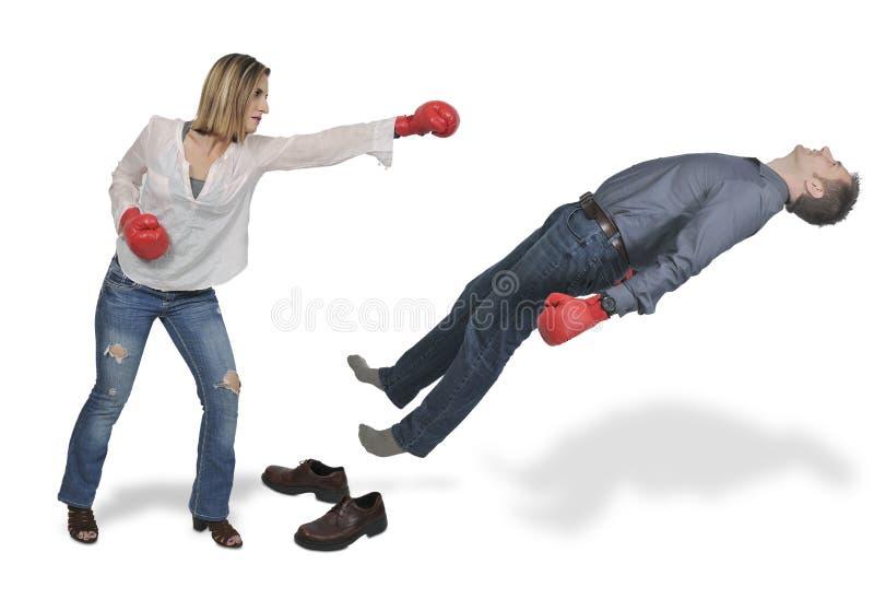 Geklopfter heraus Boxer lizenzfreie stockbilder
