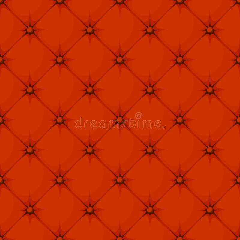 Geknöpftes nahtloses Muster der Raute lizenzfreie abbildung