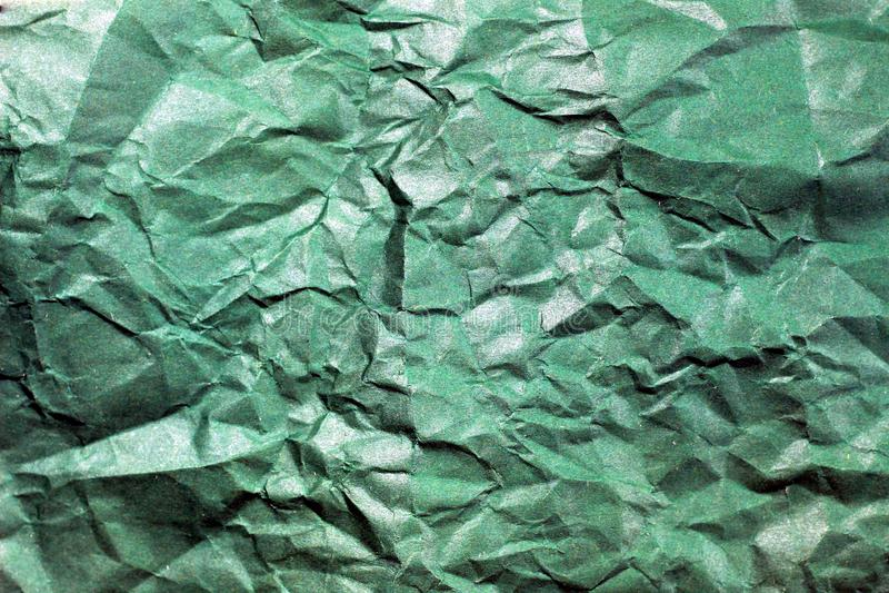 Geknitterter Papierhintergrund Beschaffenheit des zerknitterten Papiers Beschaffenheit der zerknitterten alten Papiernahaufnahme stockfotos