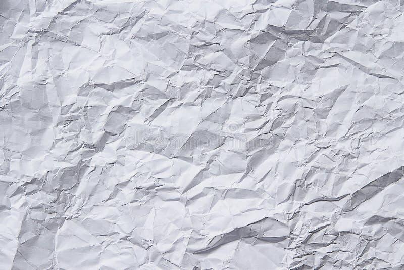Geknittertes Papierweiß lizenzfreie stockfotos