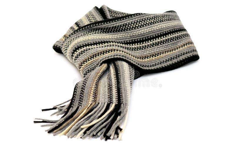 Geknoopte sjaal die over wit wordt geïsoleerdl royalty-vrije stock afbeeldingen