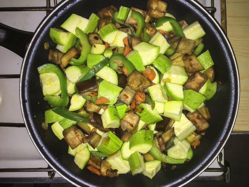 Gekocht, Küche, Teller, Nahrung, Zwiebel, Gemüse-, vegetarische, Draufsicht stockfoto