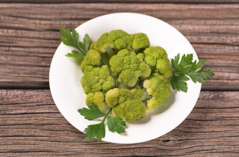 Gekochter grüner Brokkoli lizenzfreie stockbilder