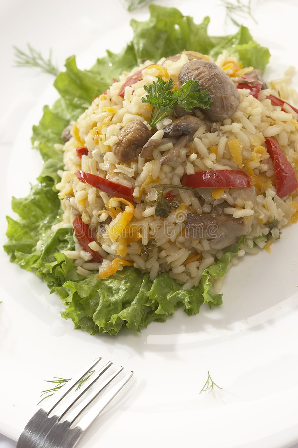 Gekochter Reis - Risotto lizenzfreie stockfotos