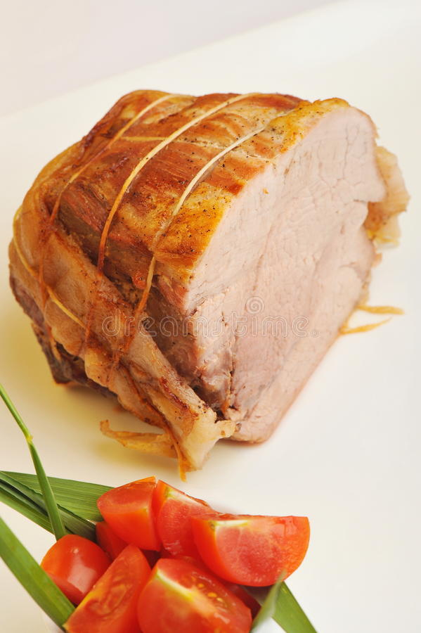 Gekochter Schweinelende-Braten lizenzfreies stockbild