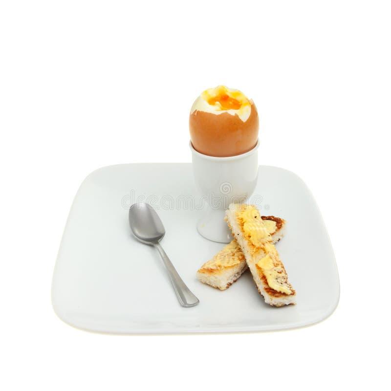Gekochtes Ei stockfotos