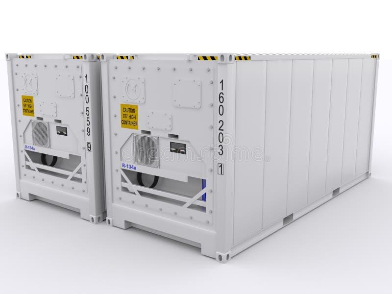 Gekoelde container stock illustratie