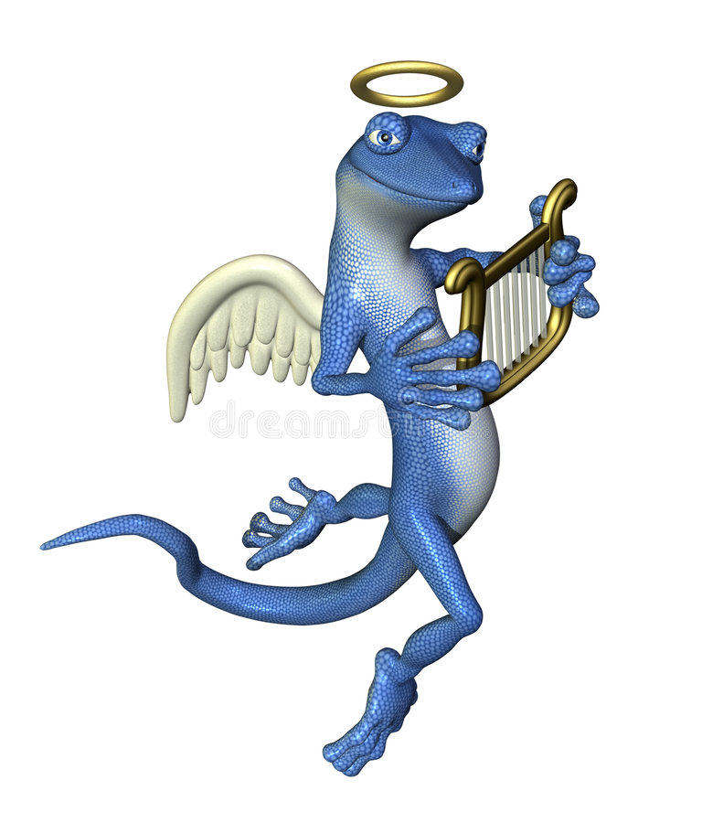 gekon, anioł ilustracji