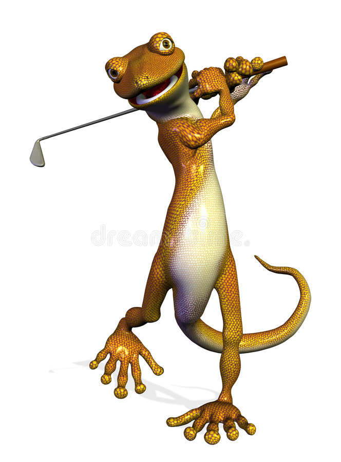 gekonu golf ilustracji