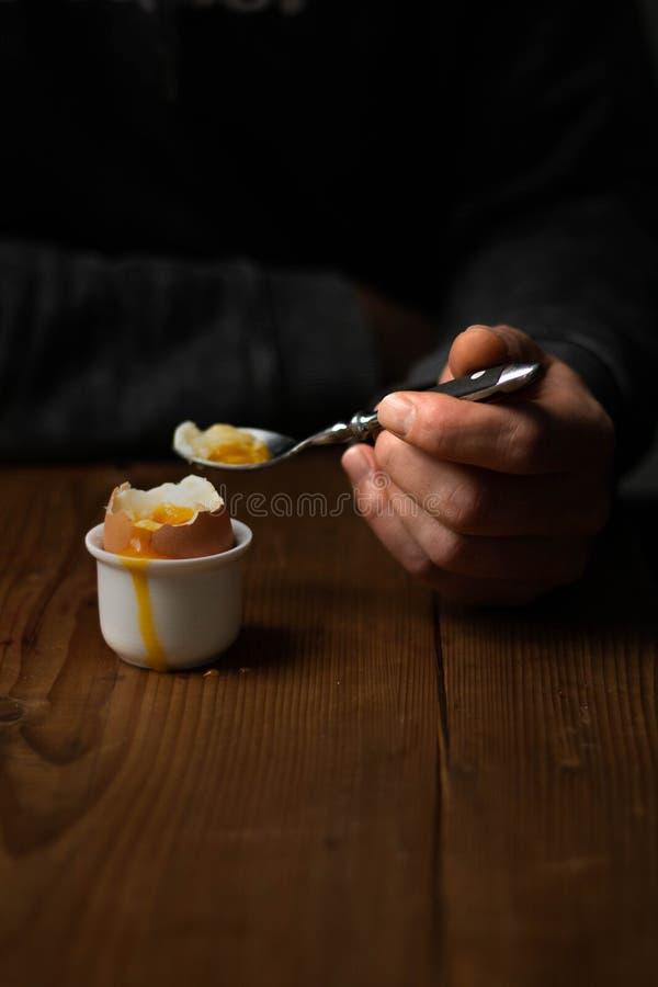 Gekookt Ei Stilleven 1 stock foto's