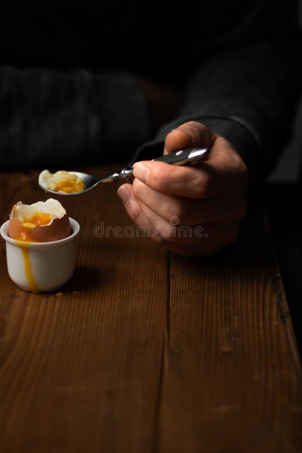 Gekookt Ei Stilleven 1 stock foto