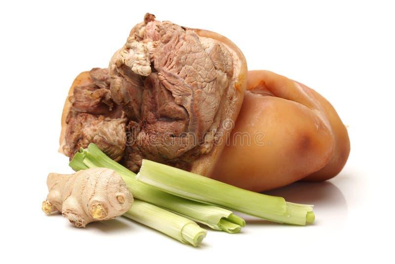 Gekookt varkensvlees (been) royalty-vrije stock fotografie