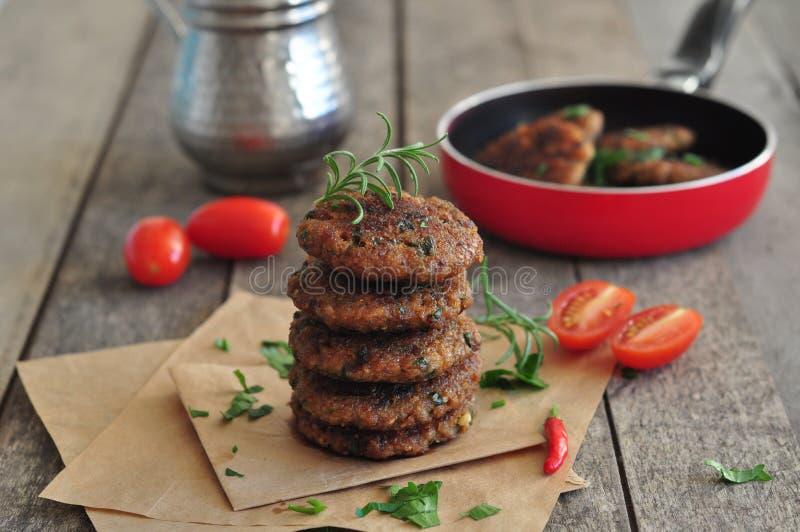 Gekookt Vleesballetje royalty-vrije stock afbeelding
