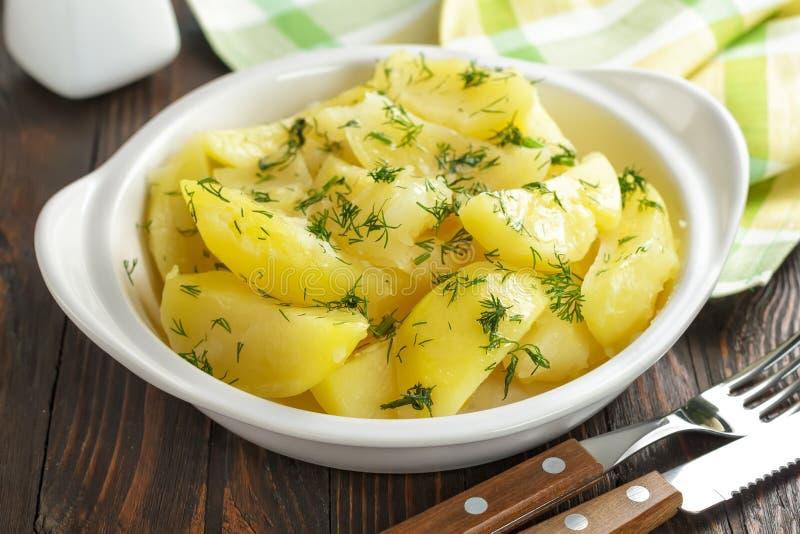 Gekookte aardappels stock foto