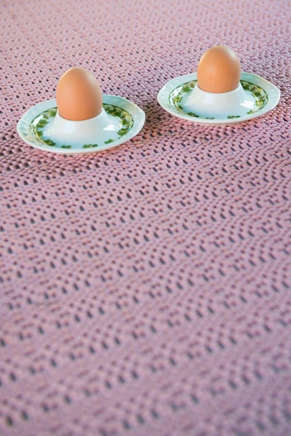 Gekookte eieren voor ontbijt stock fotografie