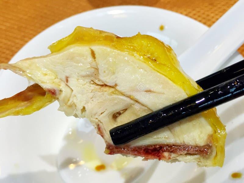 gekookte gesneden kip royalty-vrije stock afbeelding