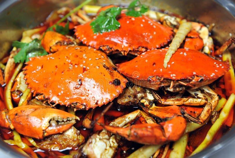 Gekookte krabben royalty-vrije stock foto's
