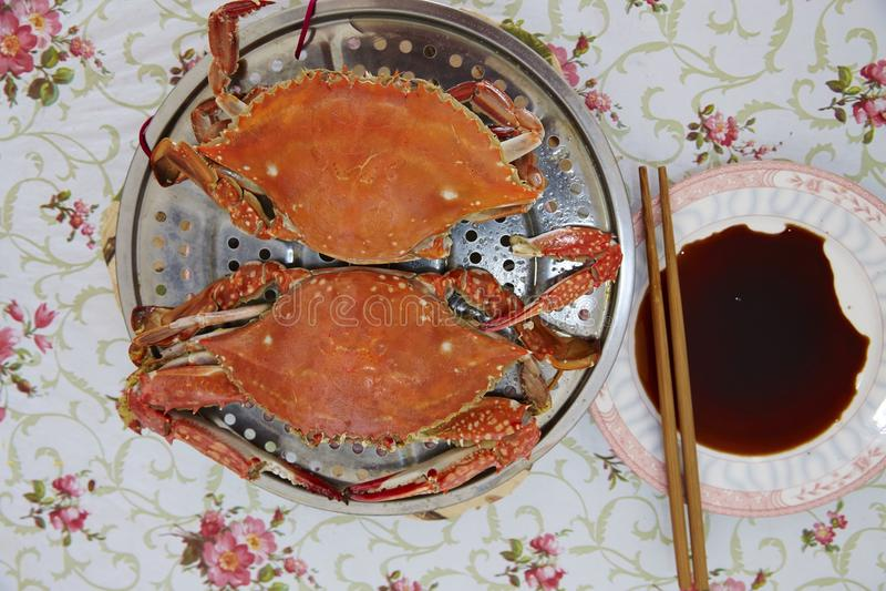 Gekookte Krabben stock afbeelding