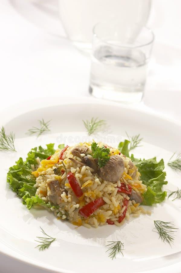 Gekookte rijst - risotto royalty-vrije stock afbeelding
