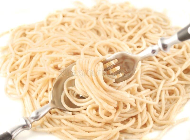 Gekookte spaghetti stock foto