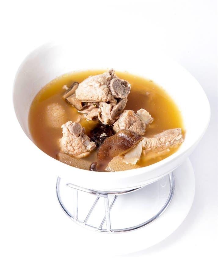 Gekookte varkensvleesbeenderen, de Gesmoorde Chinese geneeskunde van varkensvleesribben, Varkensvleesbeen stock afbeelding