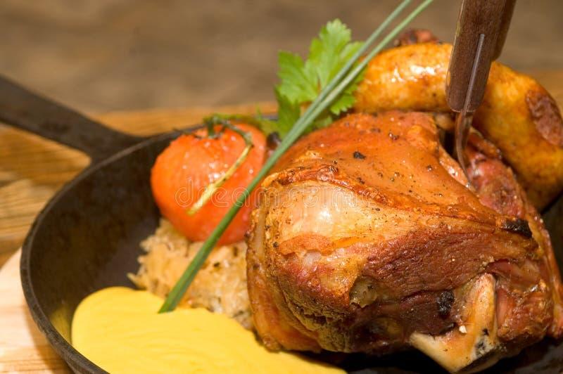 Gekookte varkensvleesribben royalty-vrije stock afbeelding