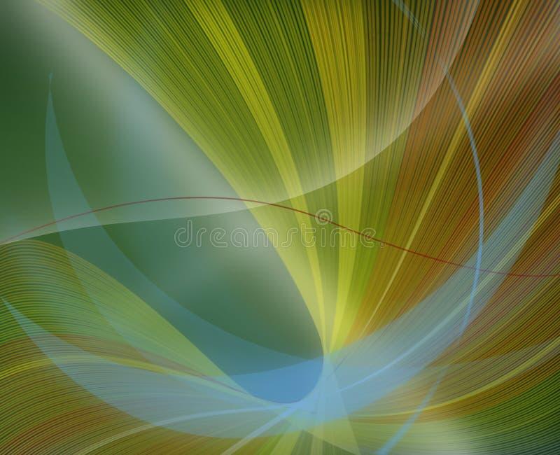 Gekopierter grüner Hintergrund auf der Zerstreuung der Zeile vektor abbildung