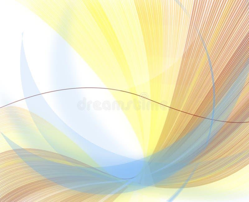 Gekopierter weißer Hintergrund auf der Zerstreuung der Zeile vektor abbildung