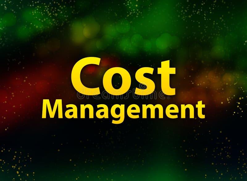 Gekostetes Managementzusammenfassung bokeh dunkler Hintergrund vektor abbildung