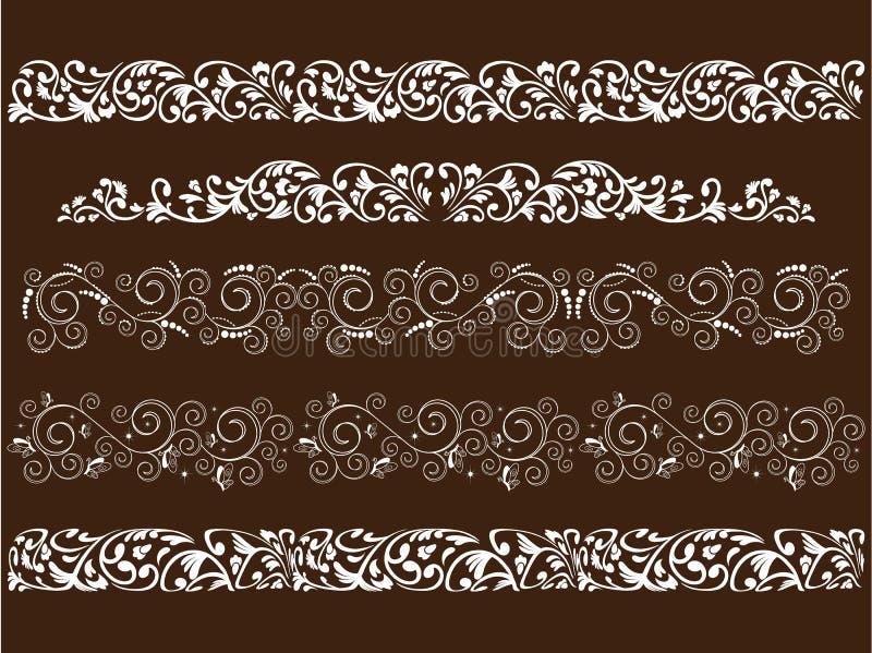 Gekräuselte Muster stockbilder