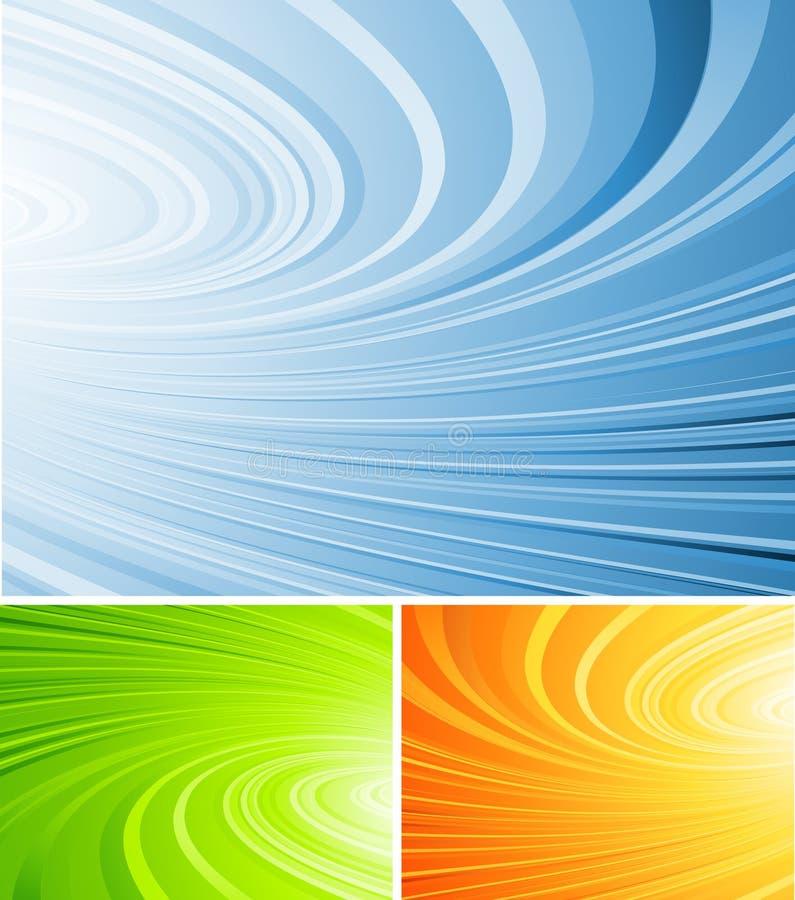 Gekräuselter abstrakter Vektor lizenzfreie abbildung
