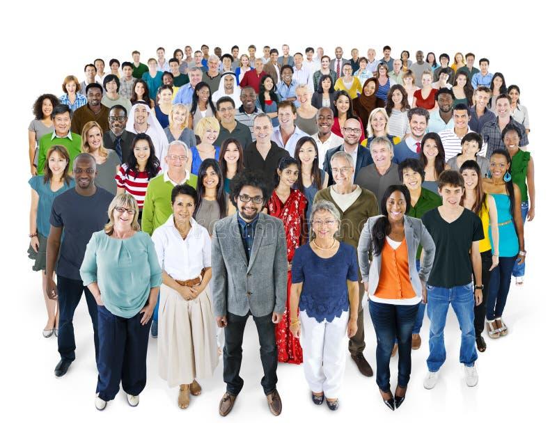 Gekraaid van het Concept van het de Vriendschapsgeluk van Diversiteitsmensen royalty-vrije stock foto's