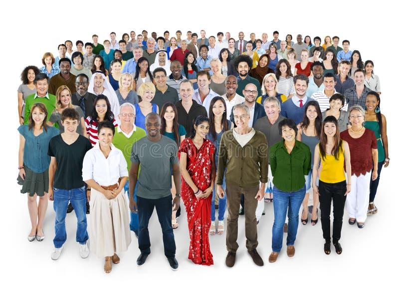 Gekraaid van het Concept van het de Vriendschapsgeluk van Diversiteitsmensen royalty-vrije stock afbeeldingen