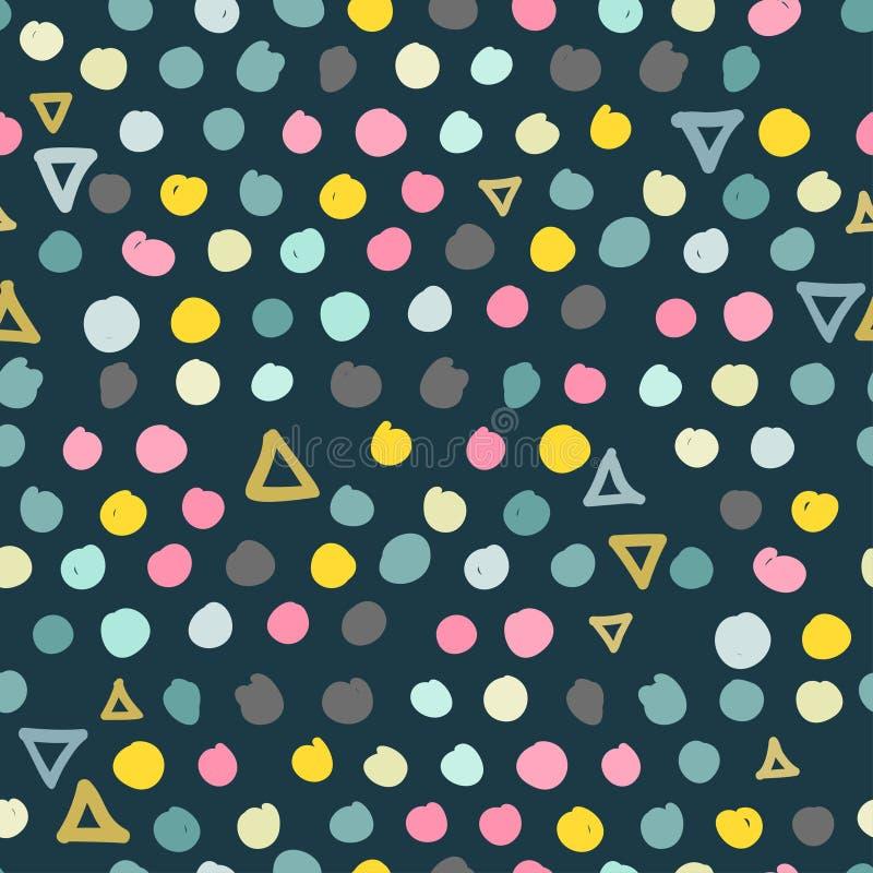 In gekrabbel naadloos patroon in pastelkleuren vector illustratie