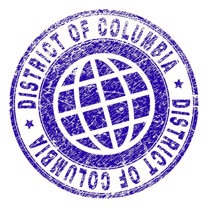 Gekrast Geweven DISTRICT VAN de Zegelverbinding van COLOMBIA stock illustratie