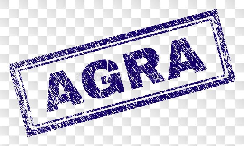 Gekraste AGRA-Rechthoekzegel vector illustratie