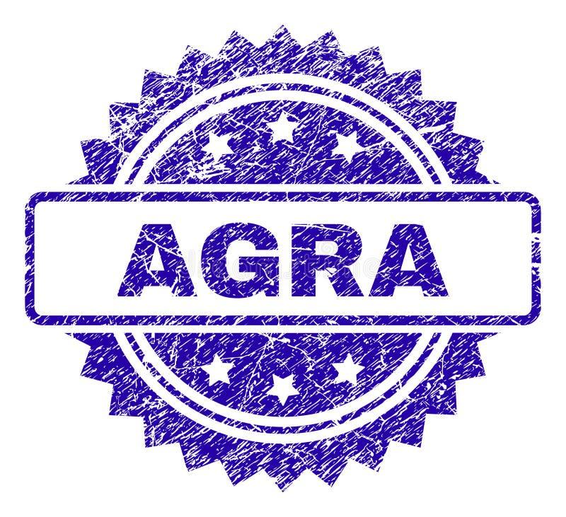 Gekraste AGRA-Zegelverbinding vector illustratie