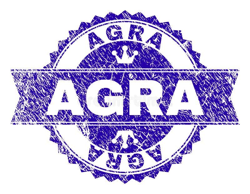 Gekraste Geweven AGRA-Zegelverbinding met Lint stock illustratie