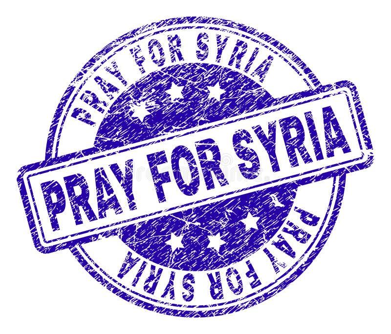 Gekraste Geweven BIDT VOOR de Zegelverbinding van SYRIË vector illustratie