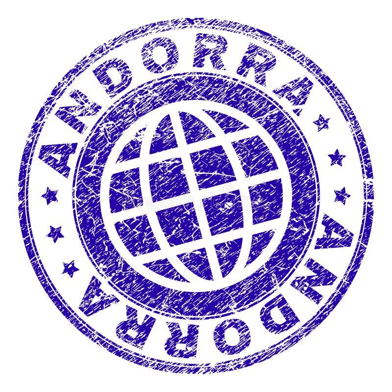 Gekraste Geweven de Zegelverbinding van ANDORRA stock illustratie